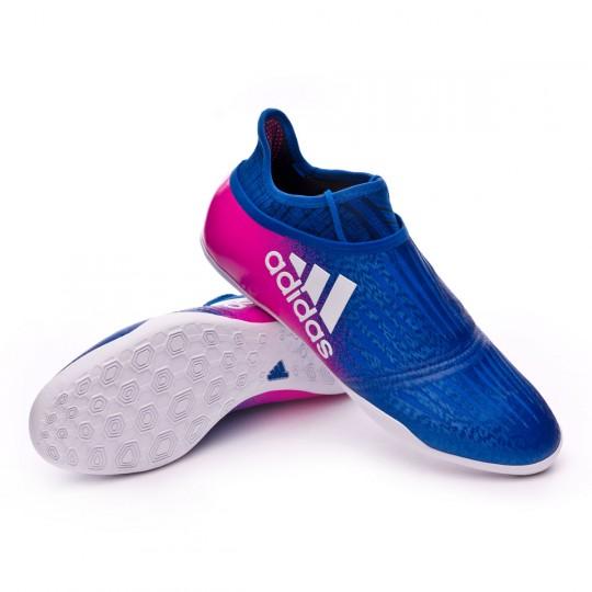 Zapatilla de fútbol sala  adidas X Tango 16+ Purechaos IN Blue-White-Shock pink