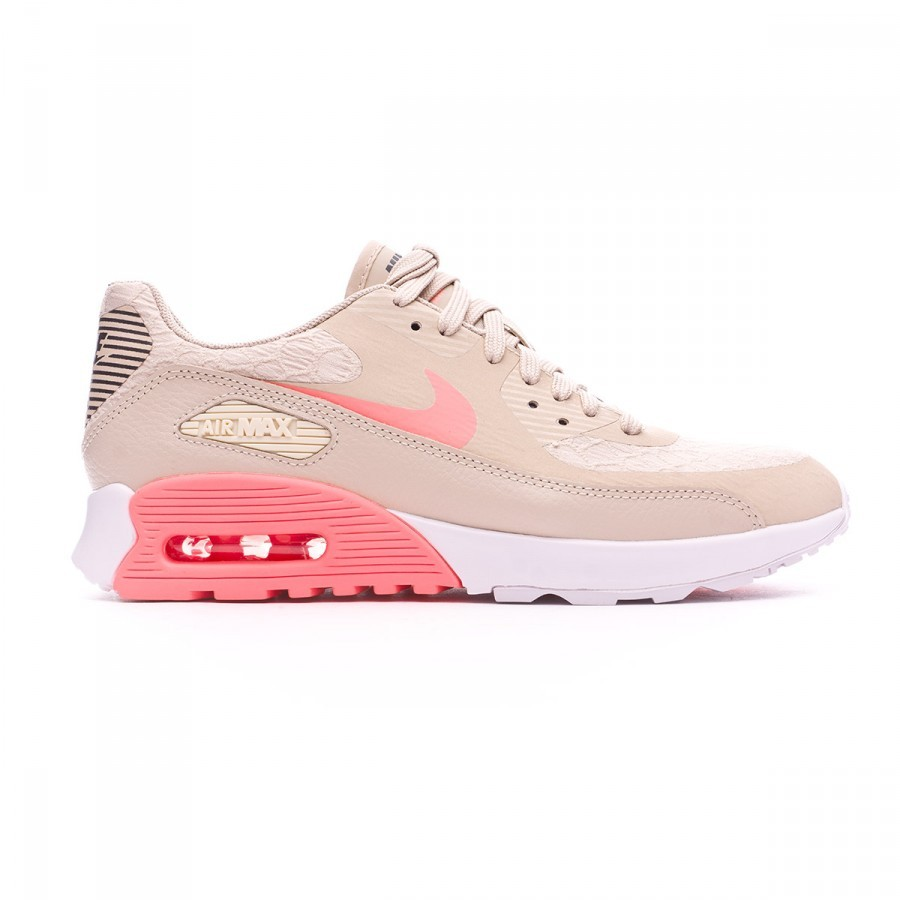 Trainers Nike Air Max 90 Ultra 2.0 Mujer Oatmeal-Lava glow-White-Dark grey  - Football store Fútbol Emotion 396b4098385ae