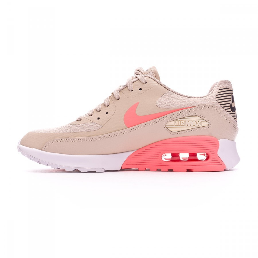 the best attitude 8d021 066bc Trainers Nike Air Max 90 Ultra 2.0 Mujer Oatmeal-Lava glow-White-Dark grey  - Football store Fútbol Emotion