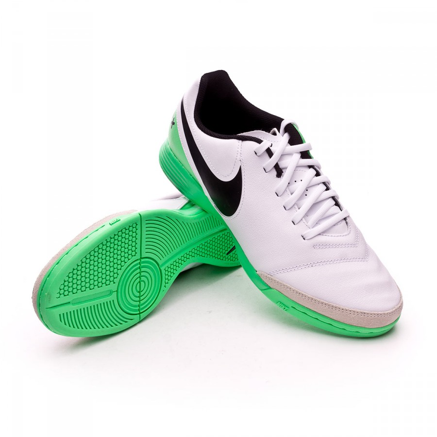 ... Zapatilla TiempoX Genio Leather II IC White-Electro green. CATEGORIA.  Futsal 61b40a4e8202c