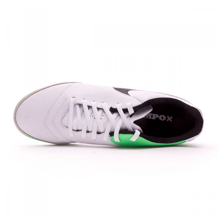 Futsal Boot Nike TiempoX Genio Leather II IC White-Electro green -  Soloporteros es ahora Fútbol Emotion e036a22da24