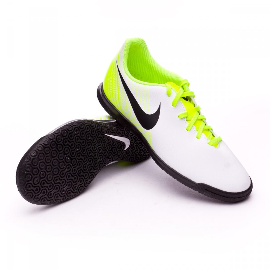 Futsal Boot Nike MagistaX Ola II IC White-Volt-Wolf grey - Football ... 6a3435014