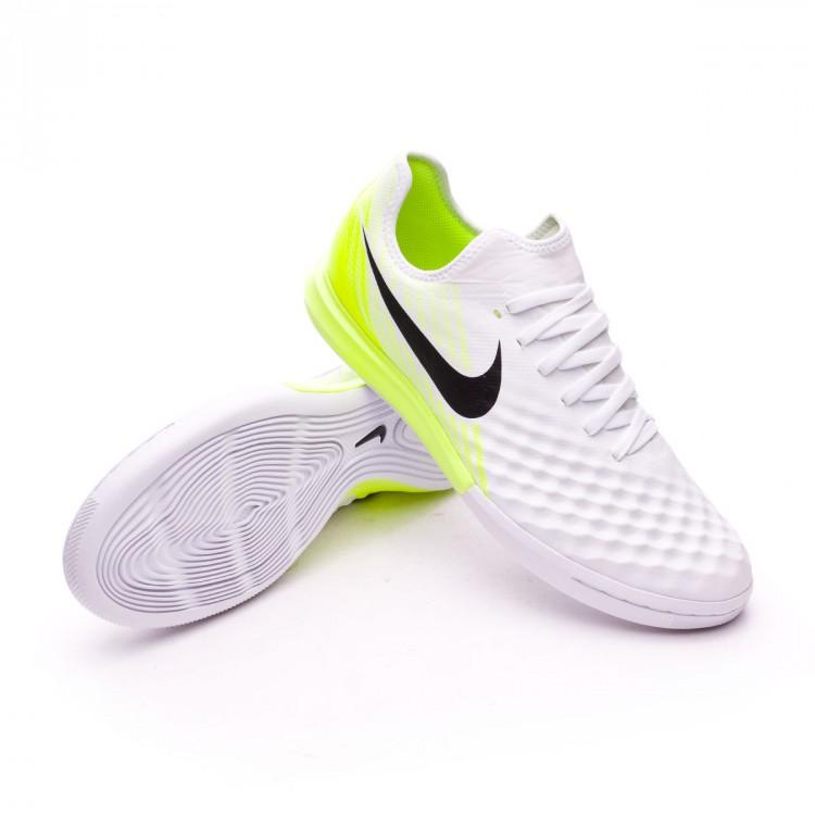 Futsal Boot Nike MagistaX Finale II IC White-Volt - Football store ... 1753b1c13