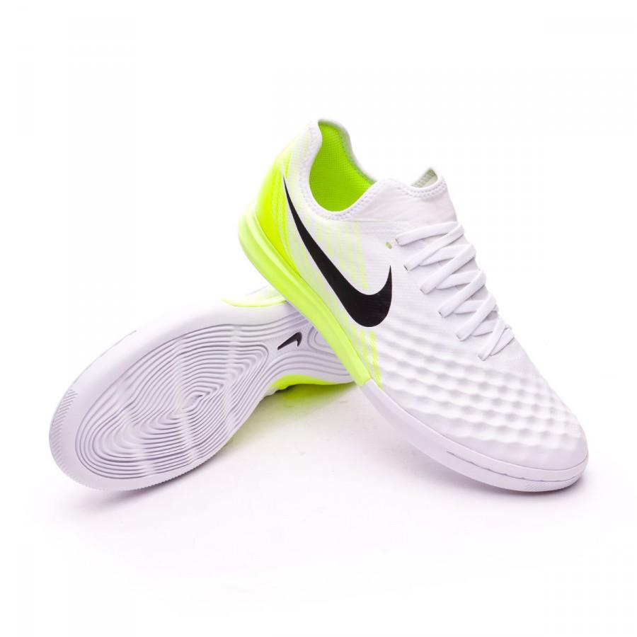 bienes de conveniencia elegante en estilo diseño de moda Futsal Boot Nike MagistaX Finale II IC White-Volt - Football store ...