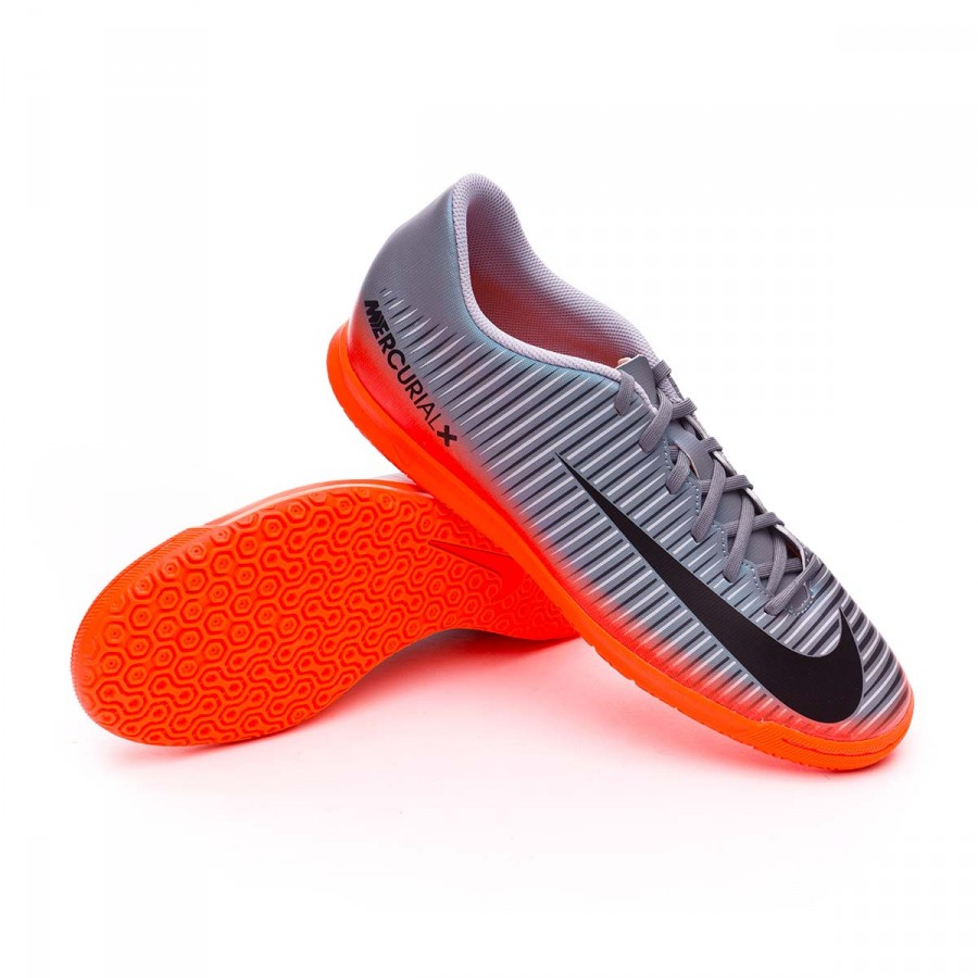 fea09b940 Futsal Boot Nike MercurialX Vortex III CR7 IC Cool grey-Metallic ...