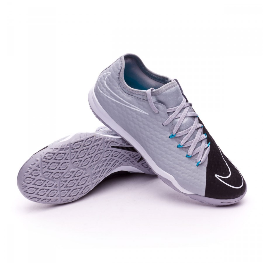 5b175b011f28 Futsal Boot Nike HypervenomX Finale II IC Wolf grey-Chlorine blue ...