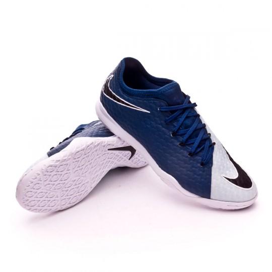 Zapatilla de fútbol sala  Nike HypervenomX Finale II IC Photo blue-Blue tint-White