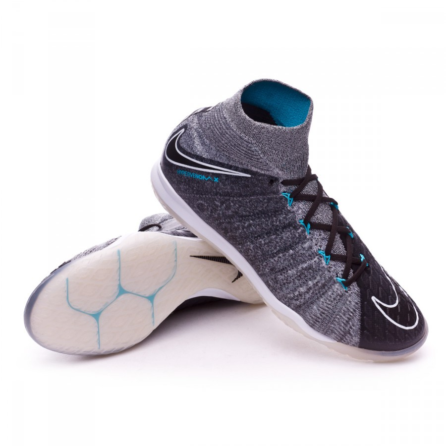 classic fit fddfc 226c3 Chaussure de futsal Nike HypervenomX Proximo II DF IC Wolf grey-Chlorine  blue - Boutique de football Fútbol Emotion