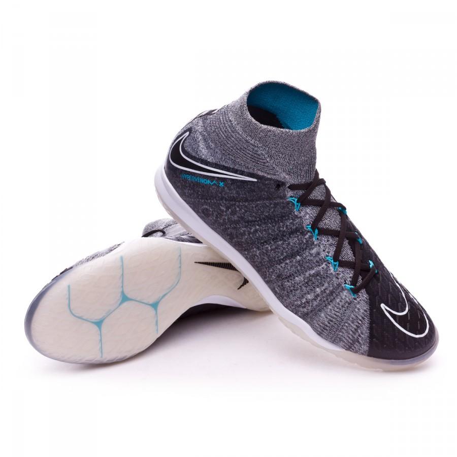 Zapatilla Nike HypervenomX Proximo II DF IC Wolf grey Chlorine blue
