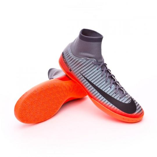 Zapatilla de fútbol sala  Nike MercurialX Victory VI DF CR7 IC Cool grey-Metallic hematite-Wolf grey