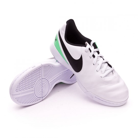 Chaussure de futsal  Nike jr TiempoX Legend VI IC White-Electric green