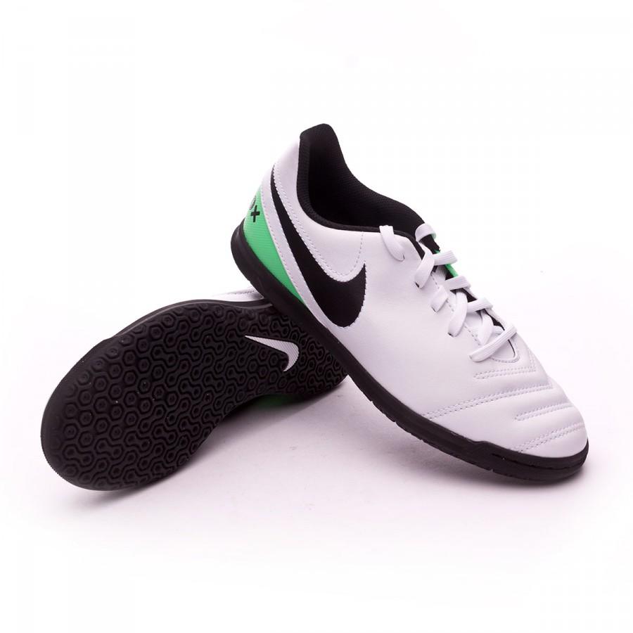 0343a91842 Futsal Boot Nike Jr TiempoX Rio III IC White-Electro green ...