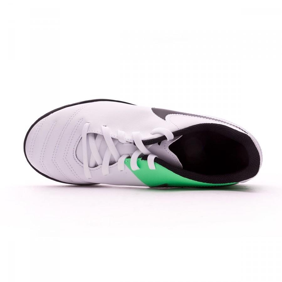best loved 64a88 1060d Chaussure de futsal Nike Jr TiempoX Rio III IC White-Electro green -  Boutique de football Fútbol Emotion