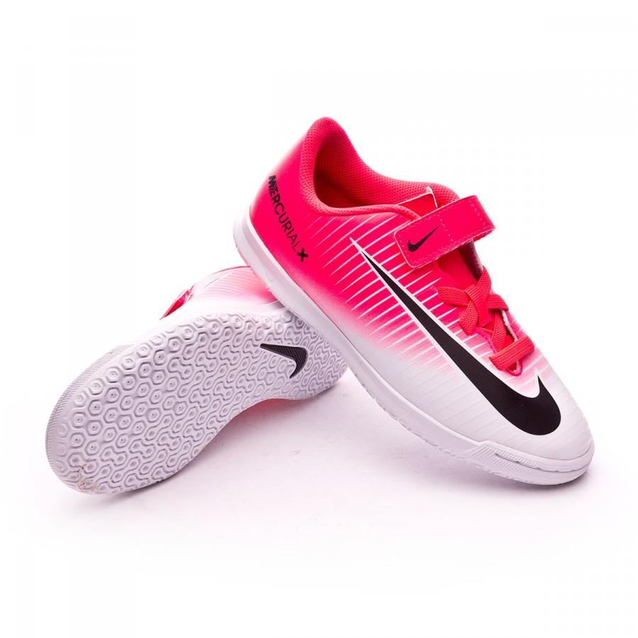 Zapatilla Nike MercurialX Vortex III Velcro IC Niño Racer pink-White -  Soloporteros es ahora Fútbol Emotion 5df28ed326c25