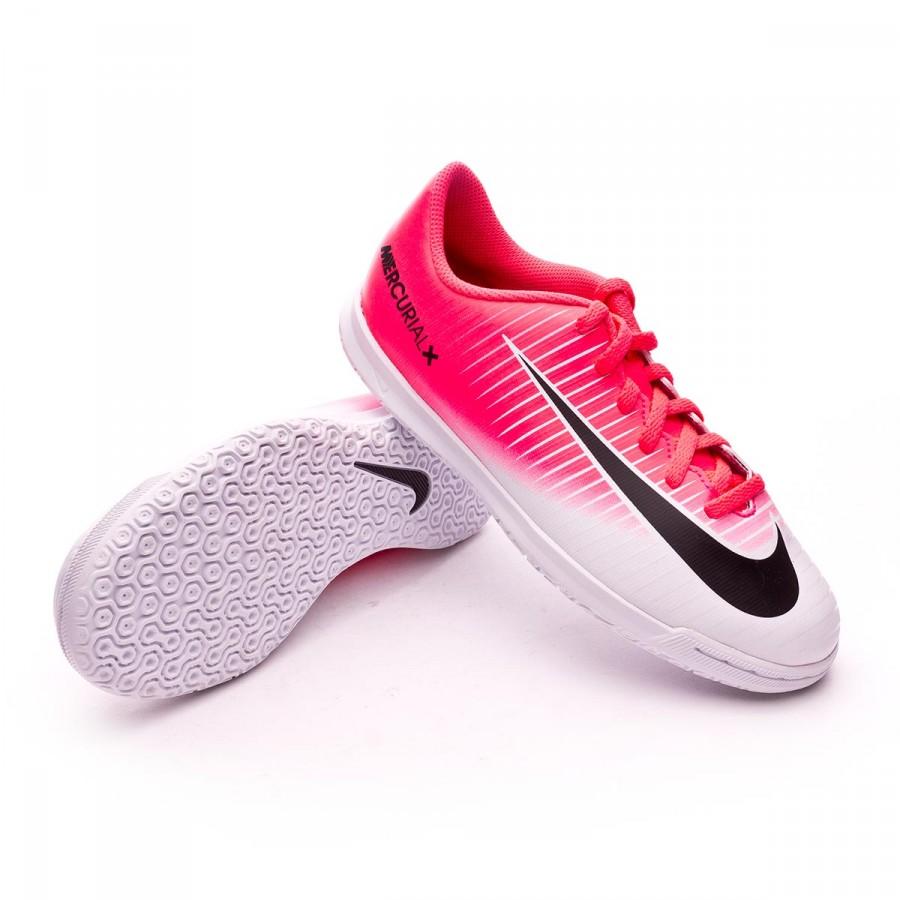 Futsal Boot Nike Jr MercurialX Vortex III IC Racer pink-White ... 28e5a7bc6d0c7