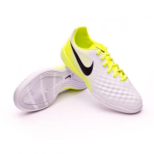 Chaussure de futsal  Nike jr MagistaX Opus II IC White-Volt-Pure platinum