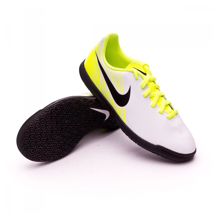 Futsal Boot Nike Jr MagistaX Ola II IC White-Volt-Pure platinum ... fa31eac76e827