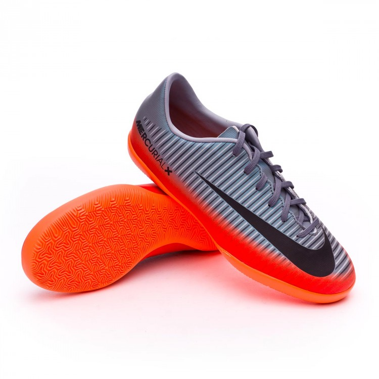 Zapatilla Nike MercurialX Victory VI CR7 IC Niño Cool grey-Metallic ... e34ff64740b98