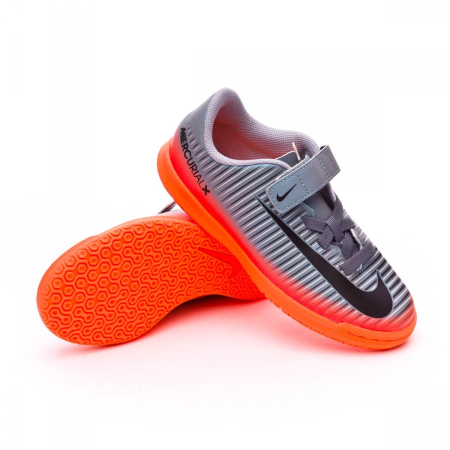 3e7d619d0604f Futsal Boot Nike Jr MercurialX Vortex III CR7 IC Velcro Cool grey ...