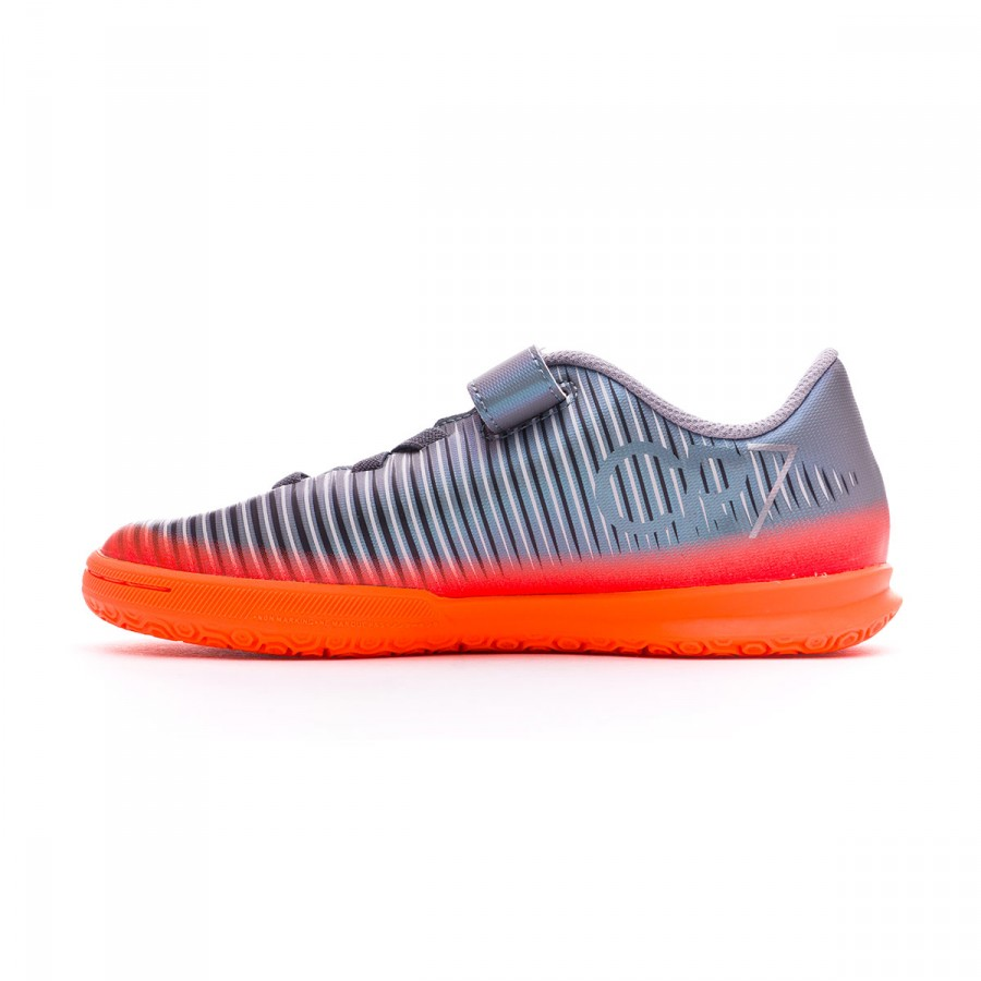 Futsal Boot Nike Jr MercurialX Vortex III CR7 IC Velcro Cool grey-Metallic  hematite-Wolf grey - Football store Fútbol Emotion 970f6a1cc6fcb