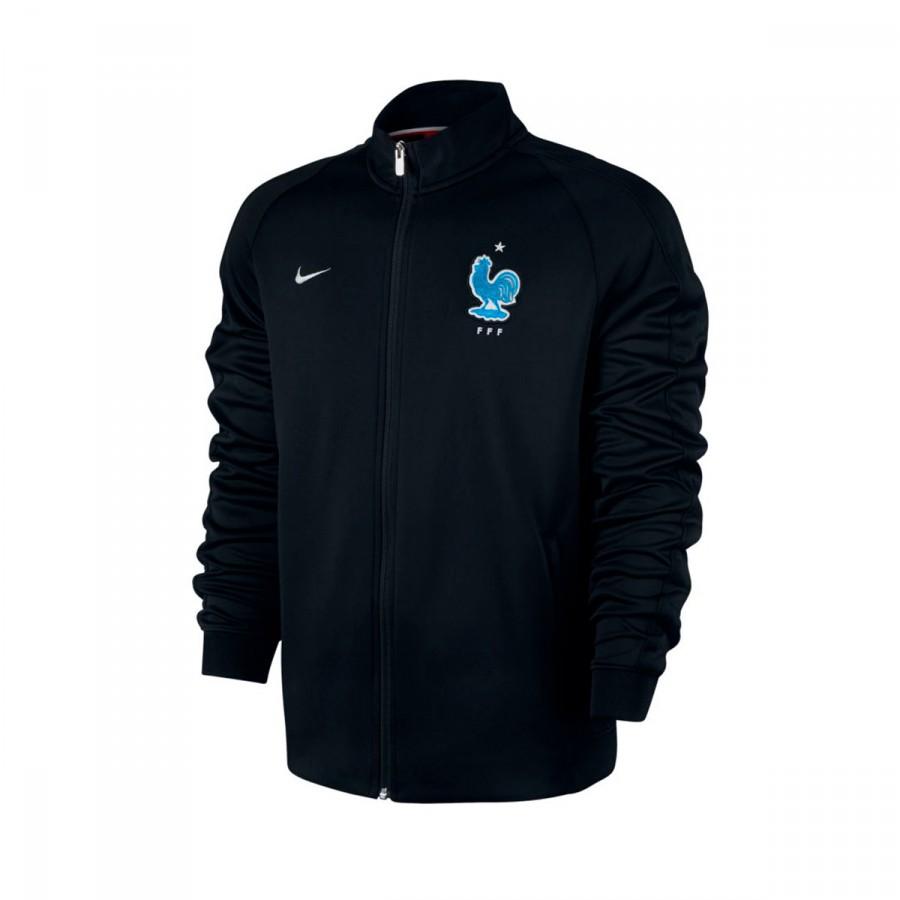 53355f6d06 Casaco Nike França NSW N98 2016-2017 Black-Metallic silver - Loja de  futebol Fútbol Emotion