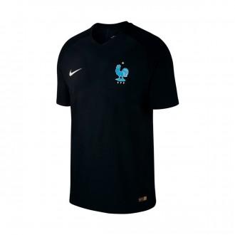 Camiseta  Nike Francia Vapor Match 2017-2018 Black-Metallic silver