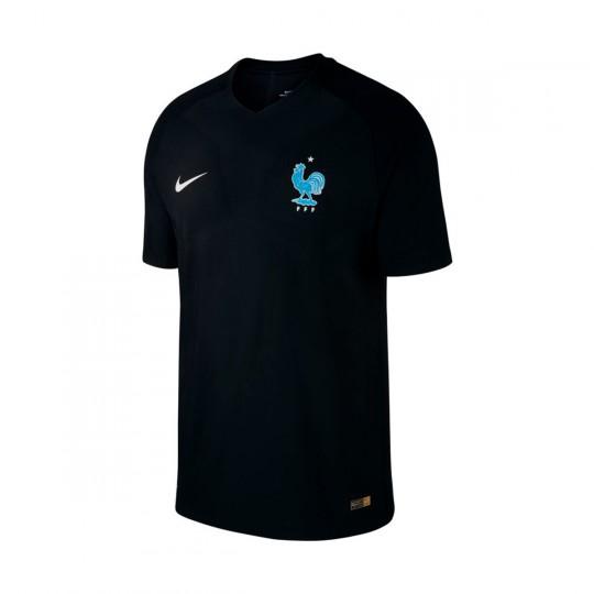 Camiseta  Nike Francia Vapor Match 2017 Black-Metallic silver