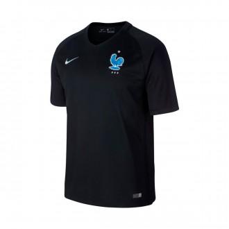 Camiseta  Nike Francia Dry Stadium 2017-2018 Black-Metallic silver