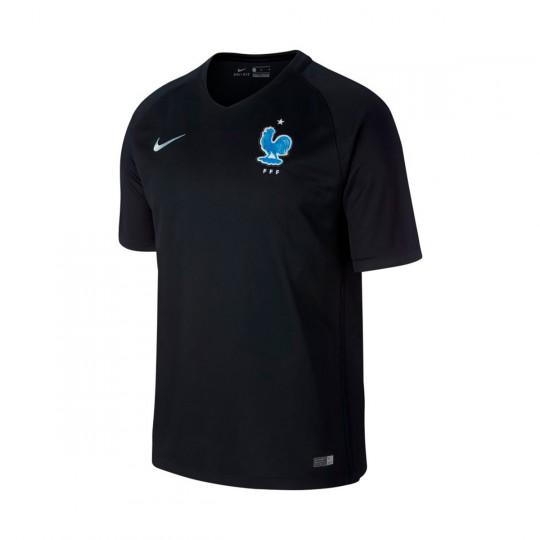 Camiseta  Nike Francia Dry Stadium 2017 Black-Metallic silver