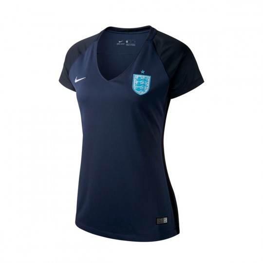 Camiseta  Nike England Dry Stadium Mujer 2017 Midnight navy-Black-Metallic Silver