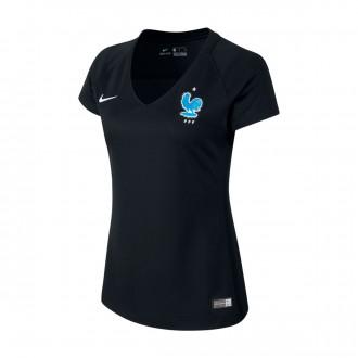 Camiseta  Nike Francia Dry Stadium 2017-2018 Mujer Black-Metallic silver
