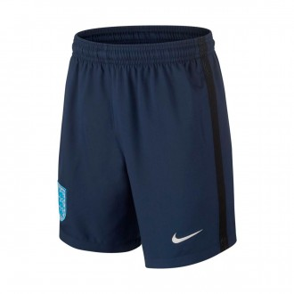 Pantalón corto  Nike Inglaterra Dry Stadium 2017-2018 Niño Midnight navy-Black-Metallic Silver