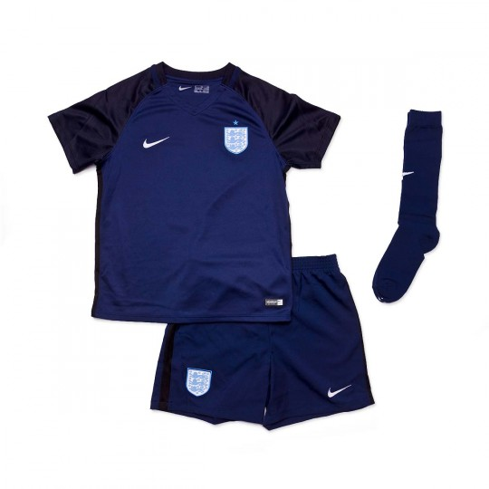 Conjunto  Nike jr England Dry 2017 Midnight navy-Black-Metallic Silver