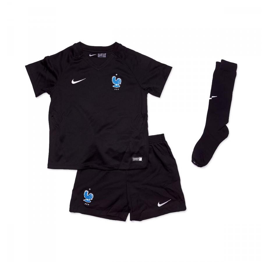 9c226fd256d80 Kit Nike Kids France Dry 2017 Black-Metallic silver - Football store ...