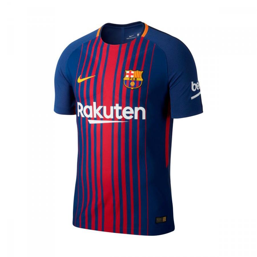 b8cefb5fb008a Camiseta Nike FC Barcelona Vapor Match Primera Equipación 2017-2018 Deep  royal blue-University gold - Tienda de fútbol Fútbol Emotion
