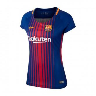Camiseta  Nike FC Barcelona Dry Stadium SS Mujer 2017-2018 Deep royal blue-University gold