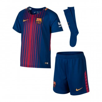 Conjunto  Nike FC Barcelona Primera Equipación 2017-2018 Niño Deep royal blue-University gold