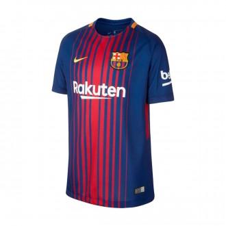 Camiseta  Nike FC Barcelona Breathe Stadium SS 2017-2018 Niño Deep royal blue-University gold