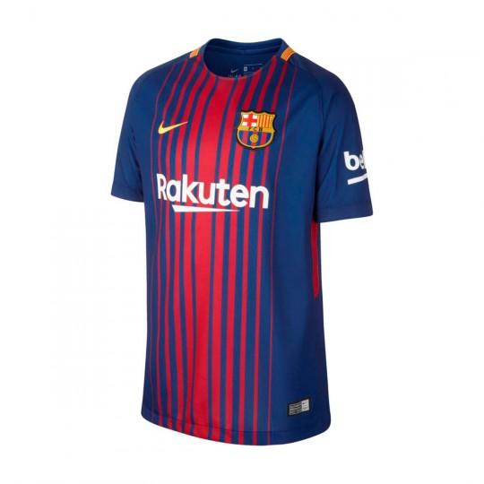 Camiseta Nike FC Barcelona Breathe Stadium Primera Equipación 2017-2018 Niño  Deep royal blue-University gold - Soloporteros es ahora Fútbol Emotion 016106deb7e46
