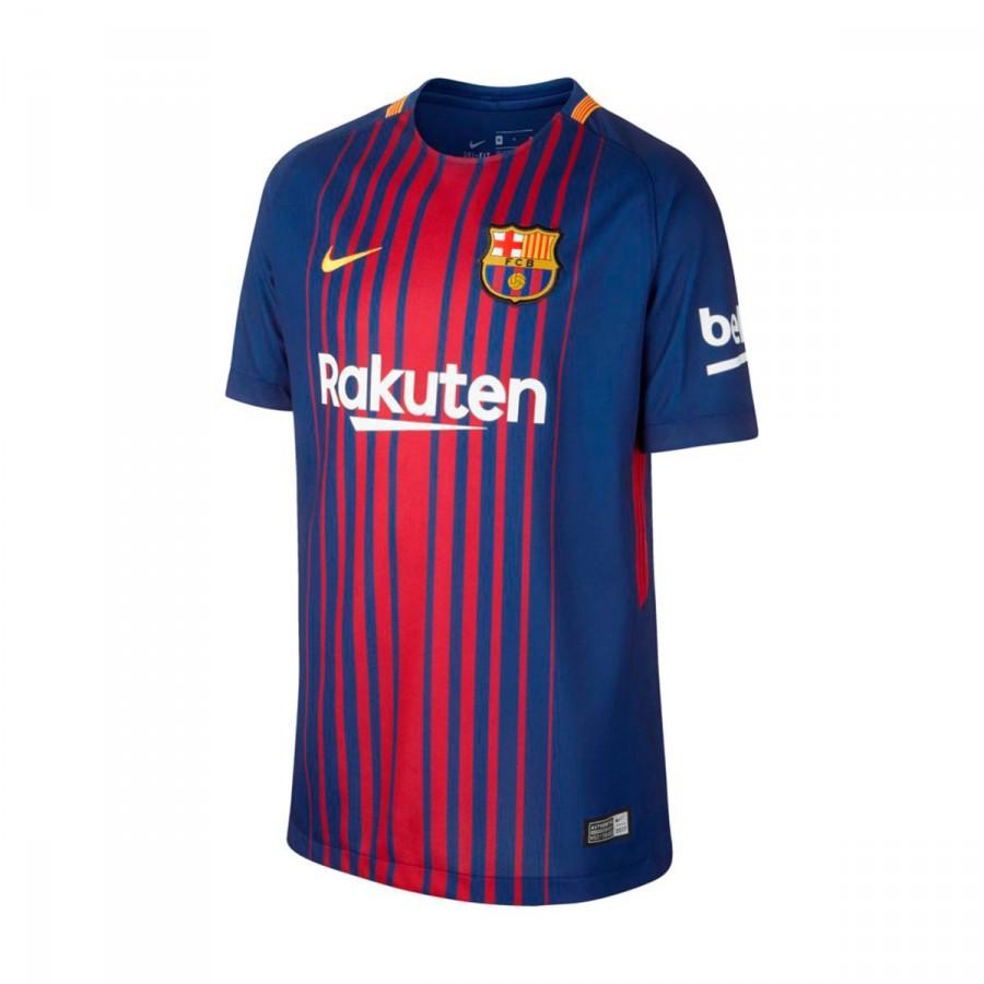 info for 14858 99364 Camiseta FC Barcelona Breathe Stadium Primera Equipación 2017-2018 Niño  Deep royal blue-University gold