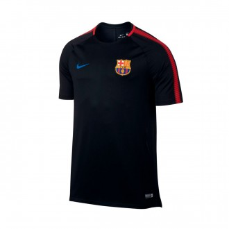 Camisola  Nike FC Barcelona Breathe Squad Football Top 2017-2018 Black-University red-Soar