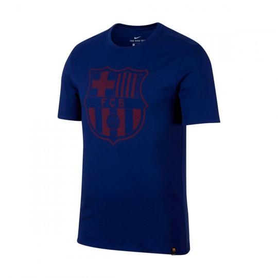 Camiseta  Nike FC Barcelona Crest 2017-2018 Deep royal blue