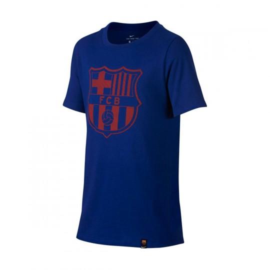 Camiseta  Nike jr FC Barcelona Crest 2017-2018 Deep royal blue