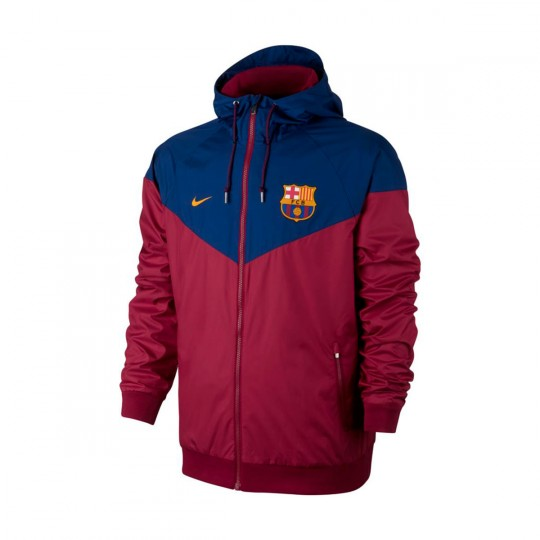 Casaco  Nike FC Barcelona NSW 2017-2018 Noble red-University gold