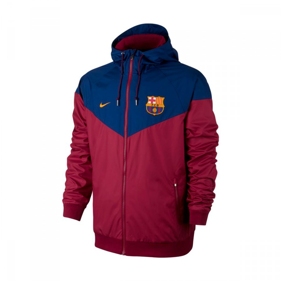 d075d54fc5a1f Jacket Nike FC Barcelona NSW 2017-2018 Noble red-University gold ...