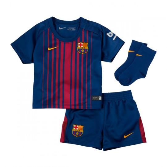 Conjunto  Nike Bebe FC Barcelona 2017-2018 Deep royal blue-University gold