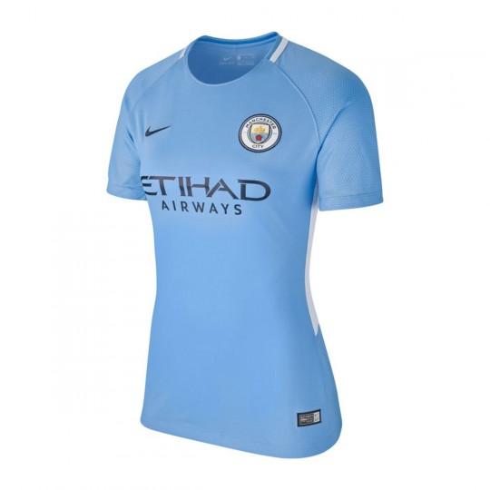 Camisola  Nike Manchester City Breathe Stadium SS Mujer 2017-2018 Field blue-Midnight navy