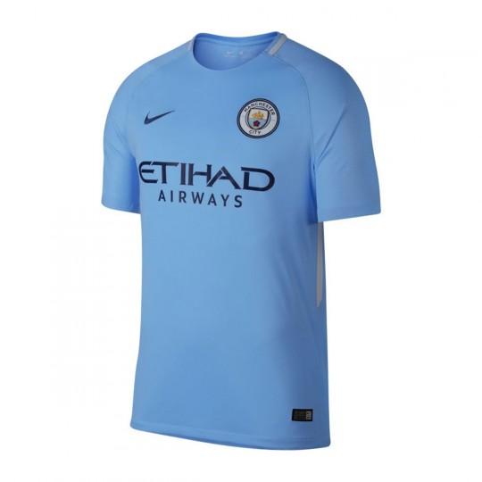 Camisola  Nike Manchester City Breathe Stadium SS 2017-2018 Field blue-Midnight navy