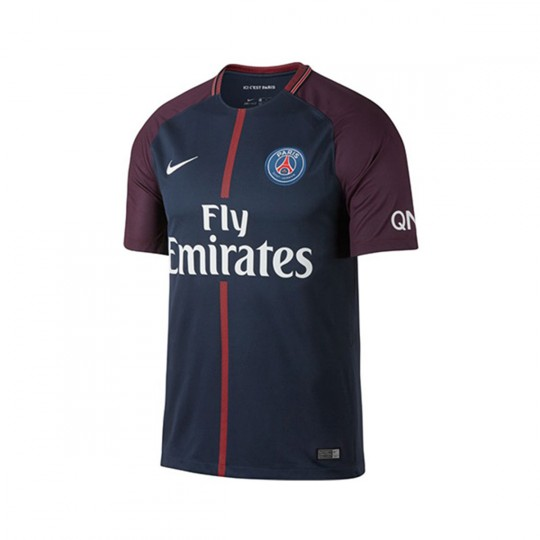 Camiseta  Nike Paris Saint-Germain Breathe Stadium 2017-2018 Midnight navy-White