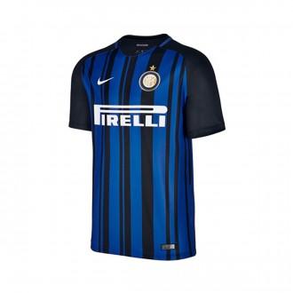 Camisola  Nike Inter Milan Breathe Stadium Primera Equipación 2017-2018 Black-Royal blue-White